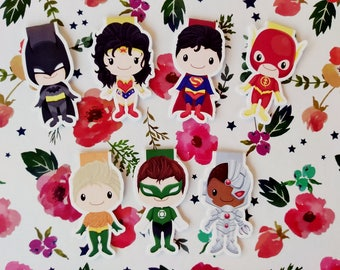 Justice League — magnetic bookmarks