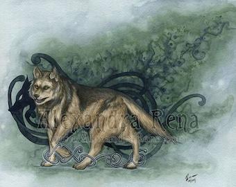 Fenrir - Germanic Wolf God Art Print