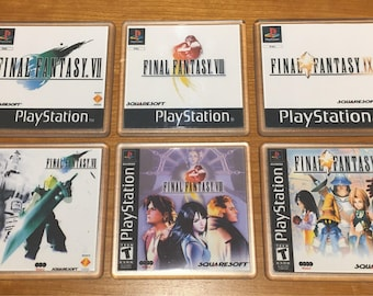 Final Fantasy Coasters Sets - FF7, FF8, FF9 (EU and US Versions)
