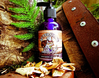 """Doctor Squirrel Grooming Co - After Shave Balm """"Sandalwood"""" - All Natural Silky Smooth Balm - 4 ounce"""