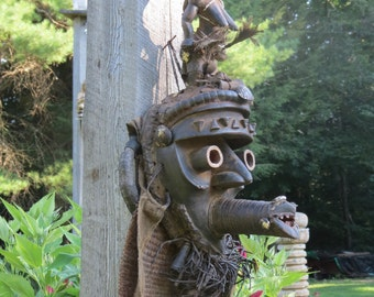 Spectacular Antique Ashanti Tribal Ceremonial Mask Accra Ghana Africa