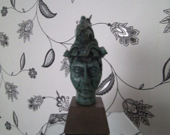 Green head sculpture