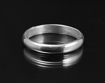 Plain Sterling Silver 2.5mm Half Round Band Wedding Ring Stacking Ring Simple Thin band rounded wedding ring half round ring simple stacking