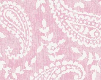 Pink Paisley Organic Fabric - By The Yard - Girl / Modern