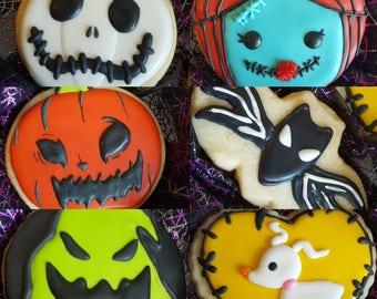 Nightmare Before Christmas cookies 1 doz
