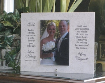 Father of the Bride Gift from Groom, Father of the Bride Frame, Father of the Bride Picture Frame, Personalized Photo Frame, 4x6 photo