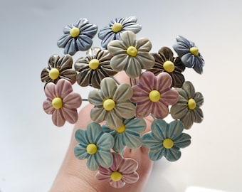 Ceramic Flower flower ceramic home decor small Flower bouquet house flowers decor floral decorations Spring Decoration