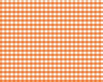 Riley Blake Designs, Medium Gingham in Orange (C450 60)