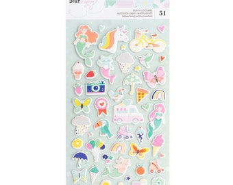 Dear Lizzy Stay Colorful Mini Puffy Stickers -- MSRP 4.00