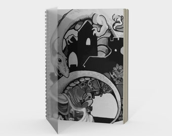 Dragonscape Spiral Notebook