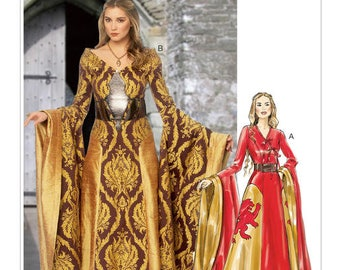 McCall's Pattern 6940-Misses' Dress and Belt Costume Pattern-Game of Thrones, Lord of the Rings-Size 6-14