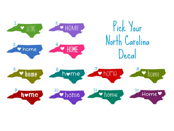 North carolina decal north carolina car decal nc tumbler