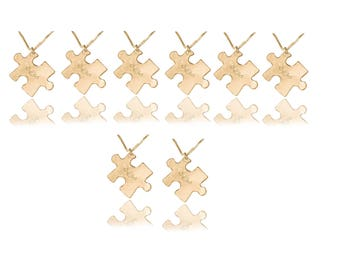 Best friends necklace for 8 Friendship necklaces for 8 gold 8 piece necklaces 8 parts friendship necklaces 8 piece friendship necklace