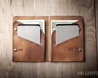 Men's Leather wallet, Men's Wallet, Leather Wallet, Minimal Leather Wallet, thin leather wallet 005