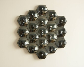 Porcelain hexagon mirror