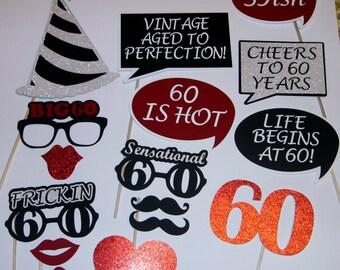 60th Birthday Photo Prop / Sensational 60 / 59ish (2188D)