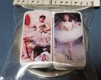 Ballerina Domino Magnets