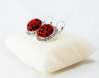 Ladies Earrings with Palestinian Embroidery