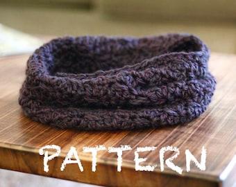 PATTERN Textured Cowl Crochet PATTERN | Advanced Beginner Crochet Cowl Pattern | Chunky Winter Scarf Pattern | Riffles and Runs Cowl