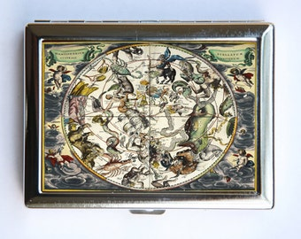 The Constellations Map Cigarette Case Wallet Business Card Holder id case astrological signs of the zodiac