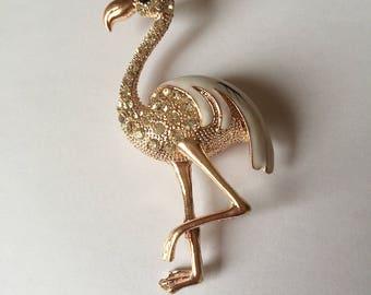 Pelican gold + rhinestones