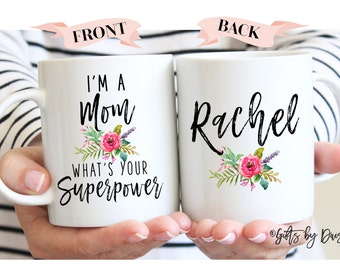 gifts for her, Funny mugs, Mom Gifts, Mom Superpower, Gifts for mom, wife gift, Mom Mug, mother's day gift, mother appreciation gift m320e