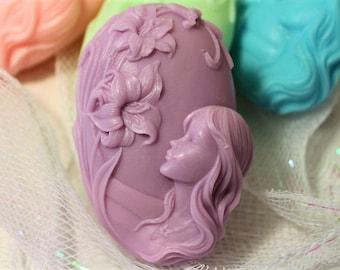 Flower Soap Bar, Novelty Floral Soap, Gift Soap for Woman, Handmade Soap, Summer Soap, Decorative Soap, Lily Flower Soap, Decorative Soaps