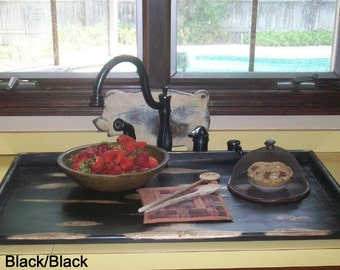 Primitive Wood Stove Top Cover Noodle Board Cutting Board