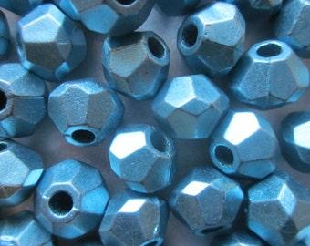 SALE - Blue Acrylic Bicone Beads 12.5x10mm 20 Beads