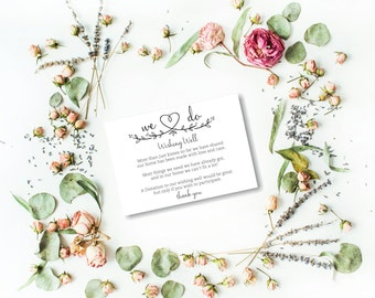 Wishing Well Cards, Wedding Wishing Well, Wishing Well Printable, Wedding Insert, Wish well, Instant Download PDF
