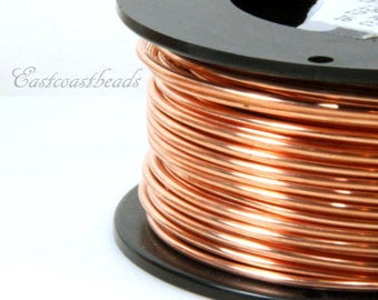 Copper Wire, 12 Gauge, Dead Soft, Solid Copper Wire, Jewelry Quality Copper Wire, Jewelry Wire Wrapping, High, Sold in 10 Ft. Length, 005