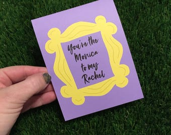 Friends card - Card for best friend - Just Because - Thinking of you - Long Distance Friendship