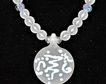 Quartz, Lampwork & Art Glass Necklace OOAK