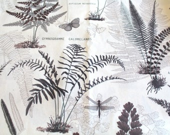 Coupon fabric upholstery vegetable 70 x 50 cm