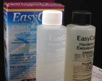 Easy Cast Clear Casting Epoxy for Resin Jewelry Low Odor 8 oz 236 ml