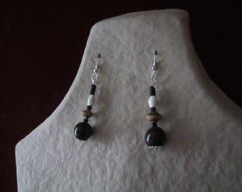 Earrings seed coconut shell