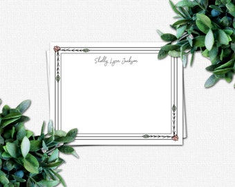 Personalized Flat Note Cards - Note Card - Gifts for Women - Floral Gifts - Personalized Note Cards for Women | Wildflowers