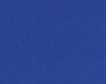 Deep Blue Kona Cotton, Blue Fabric, Robert Kaufman Fabric, Half Yard