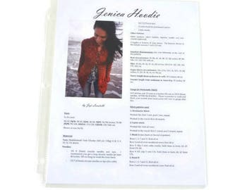 CLEARANCE Printed Jenica Hoodie Knitting Pattern, Joji Locatelli, sweater knitting patter, wrap knitting pattern, hoodie knitting pattern
