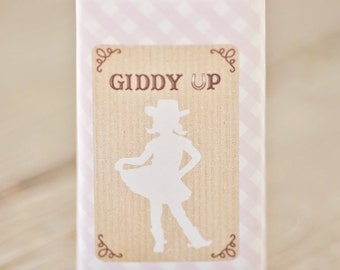 Cowgirl Party Juice Box Wraps/Labels