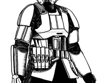 Star Wars Rogue One Shoretrooper Print