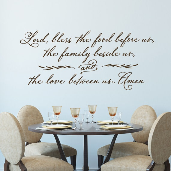 Lord Bless The Food Before Us Wall Decal Christian