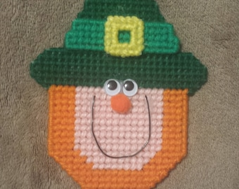 Handmade Finished Leprechaun St. Patrick's Day Refrigerator Magnet
