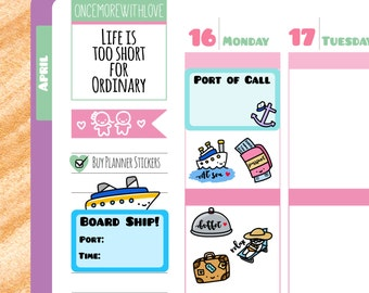 Munchkins - Cruise Vacation Travel the World Trip Planner Stickers (M66)