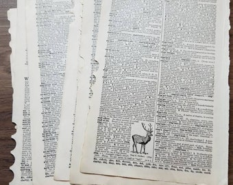 Old Dictionary Pages / Vintage Dictionary Pages / Old Book Pages / Vintage Dictionary Art / Vintage Scrapbooking Paper / Vintage Craft Paper
