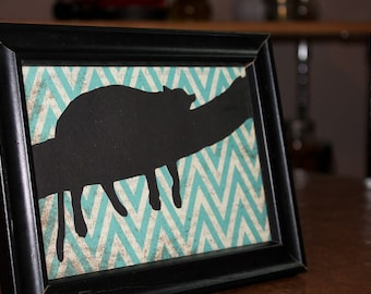 5x7 frame with sleeping leopard silhouette