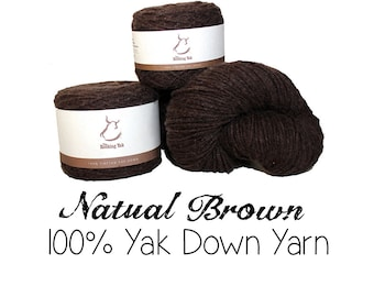 100g Tibetan Yak Down Yarn - Natural Brown - Spring Light & Summer Light - 11001