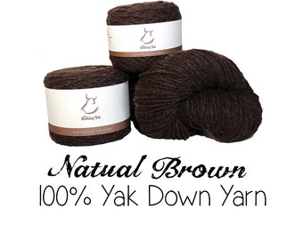 100g Tibetan Yak Down Yarn - Natural Brown - 11001 - Bulky to Fall Medium