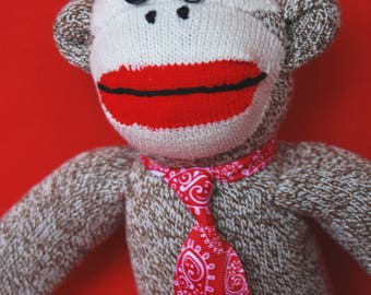 "Sock Monkey ""Chimpo"" - Charming, ""Heritage-Style"""