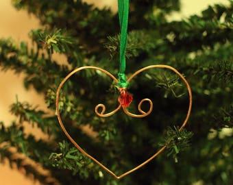 Copper Rustic Heart Ornaments